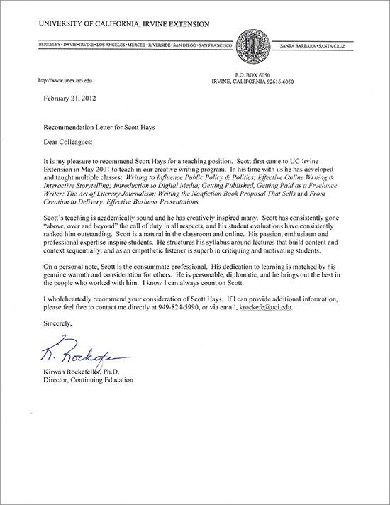 Recommendation Letter Pdf  Docoments Ojazlink